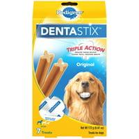 Pedigree Dentastix Large Dental Dog Treats, Original, 6.07 Oz. Pack (7 Treats)