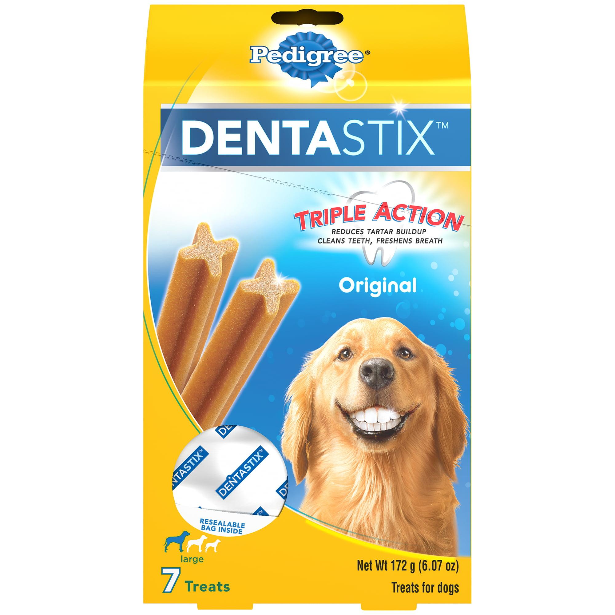 PEDIGREE DENTASTIX Large Dental Dog Treats Original, 6.07 oz. (7 Treats)