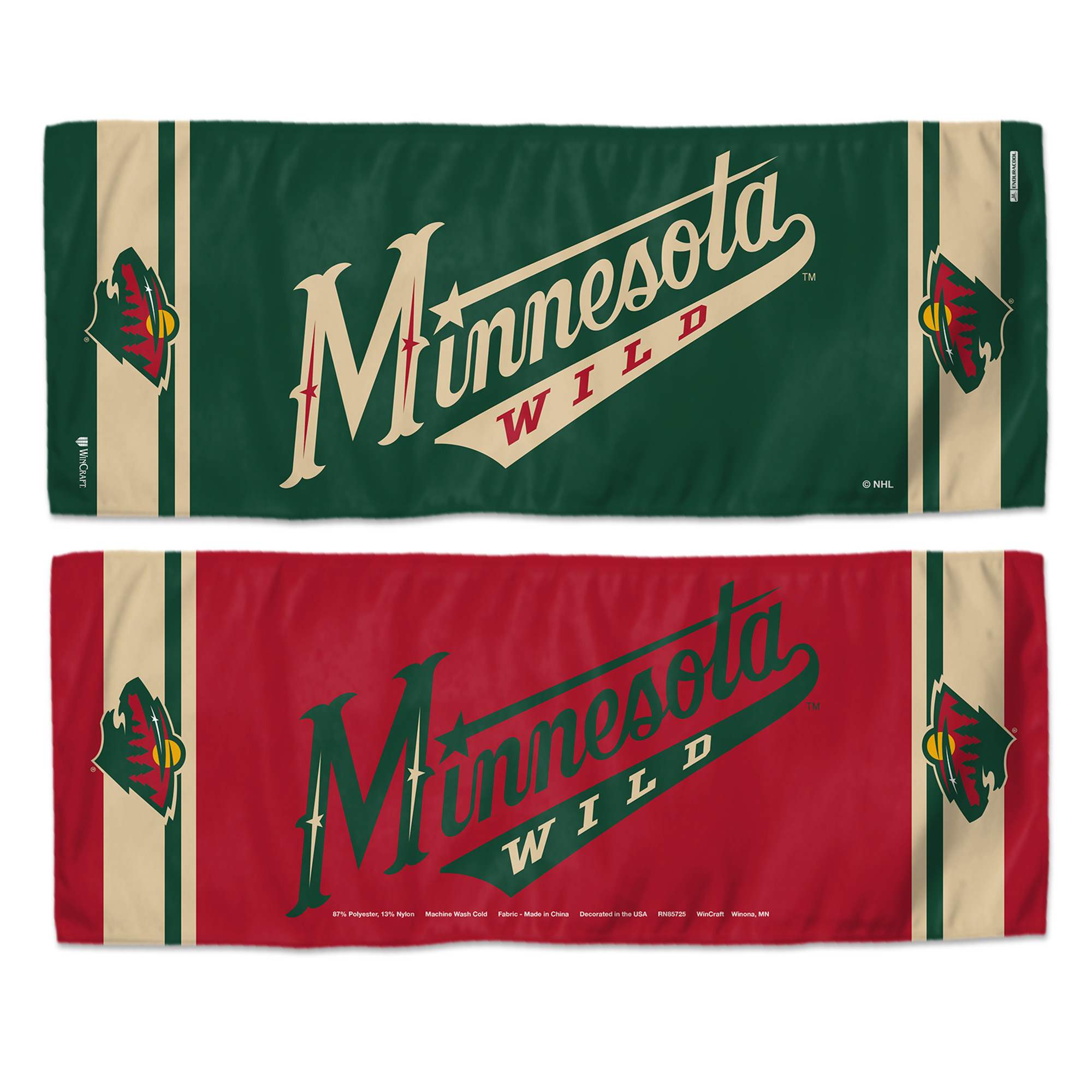 """Minnesota Wild WinCraft 12"""" x 30"""" Double-Sided Cooling Towel - No Size"""