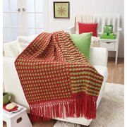 Herrschners  Holiday Cubes Crochet Afghan Kit