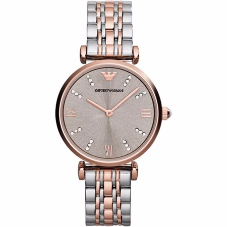 Emporio Armani Women's Retro Crystal Accent Two-Tone Stainless Steel Watch AR1840