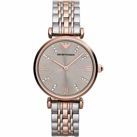 Emporio Armani Women's Retro Crystal Accent Two-Tone Stainless Steel Watch