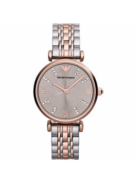 b60d9b3635 Product Image Emporio Armani Women's Retro Crystal Accent Two-Tone  Stainless Steel Watch AR1840