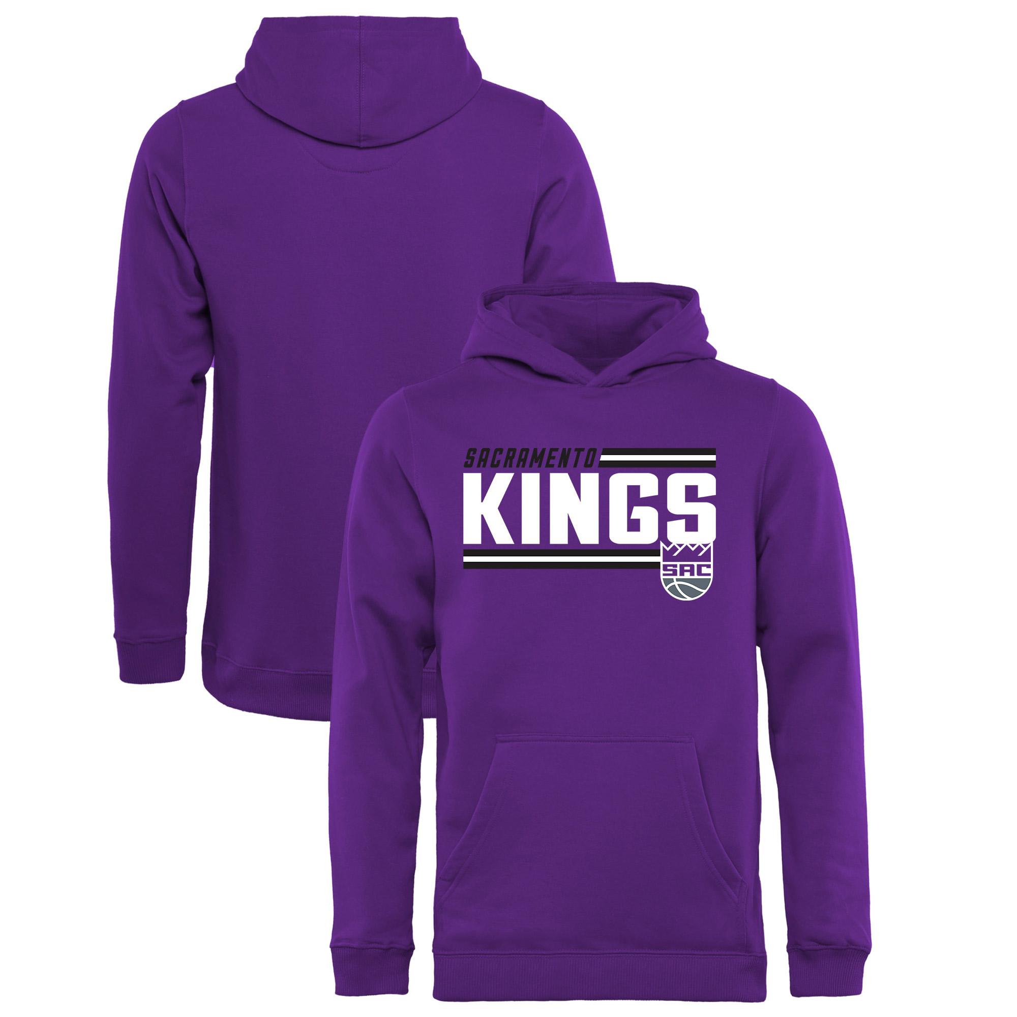 Sacramento Kings Fanatics Branded Youth Onside Stripe Pullover Hoodie - Purple