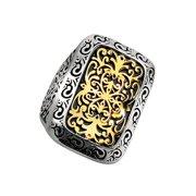 Phillip Gavriel 18k Gold & Sterling Silver Byzantine Ring, Size 7