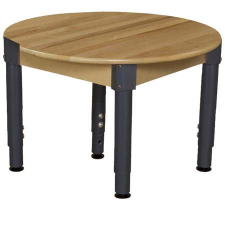 Wood designs 830a1217c6 30 in mobile round hardwood table for Table design on mobile