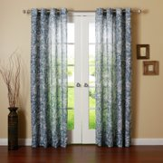 Best Home Fashion Paisley Watercolor Printed Grommet Top Curtain Panel Pair