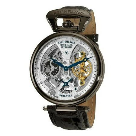 Stuhrling Original Men's 127A2.33F52 Analog Display Automatic Self Wind Black Watch