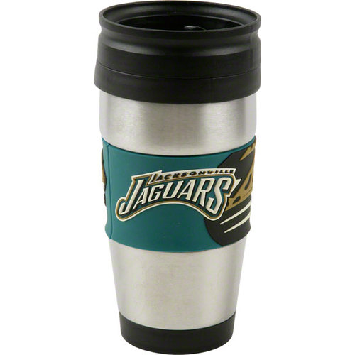NFL - Jacksonville Jaguars Travel Mug: 15 oz Stainless Steel Travel Tumbler