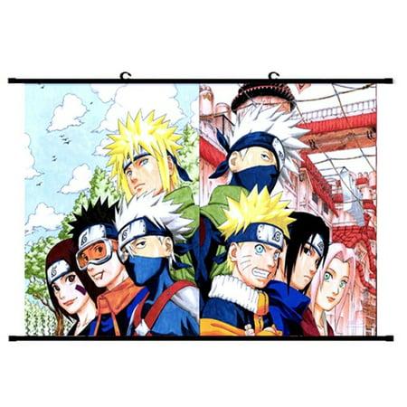TURNTABLE LAB Japanese Anime Naruto Uzumaki Naruto\/Uchiha Sasuke Painting Poster Wall Scroll Poster Home Decoration (Japanese Decorations For Home)