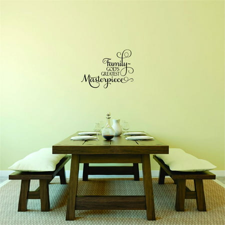 Custom Wall Decal Sticker Family god s Greatest Masterpiece Quote Liv