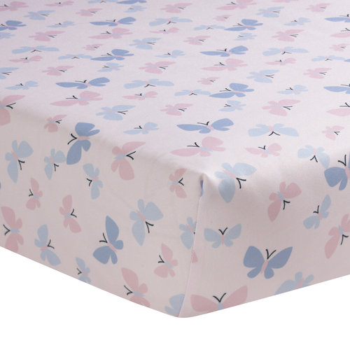 Bedtime Originals Butterfly Meadow Collection Crib Sheet