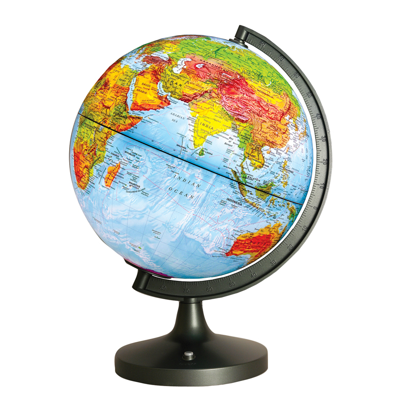 Dual Cartography LED Illuminated Globe, 11""
