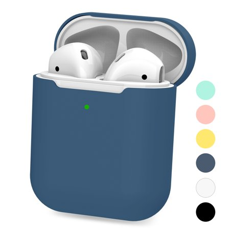 Case for Airpods, Silicone Waterproof Protect Skin Cases for Apple AirPods Shockproof Cover Accessories Thanksgiving&Christmas&Birthday (Blue) Special design for Apple Airpods. (NO Airpods! NO Airpods Charger!)Impact-resistant durable silicone rubber.Waterproof case for Apple AirPods is IP67 test.Protect AirPods from water during running ,skiing, fishing, camping.Slim form fitting minimalistic design fits for your AirPods.