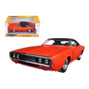 Bigtime Muscle Series: 1970 Dodge Charger R/T (Orange/Black) 1/24 Scale