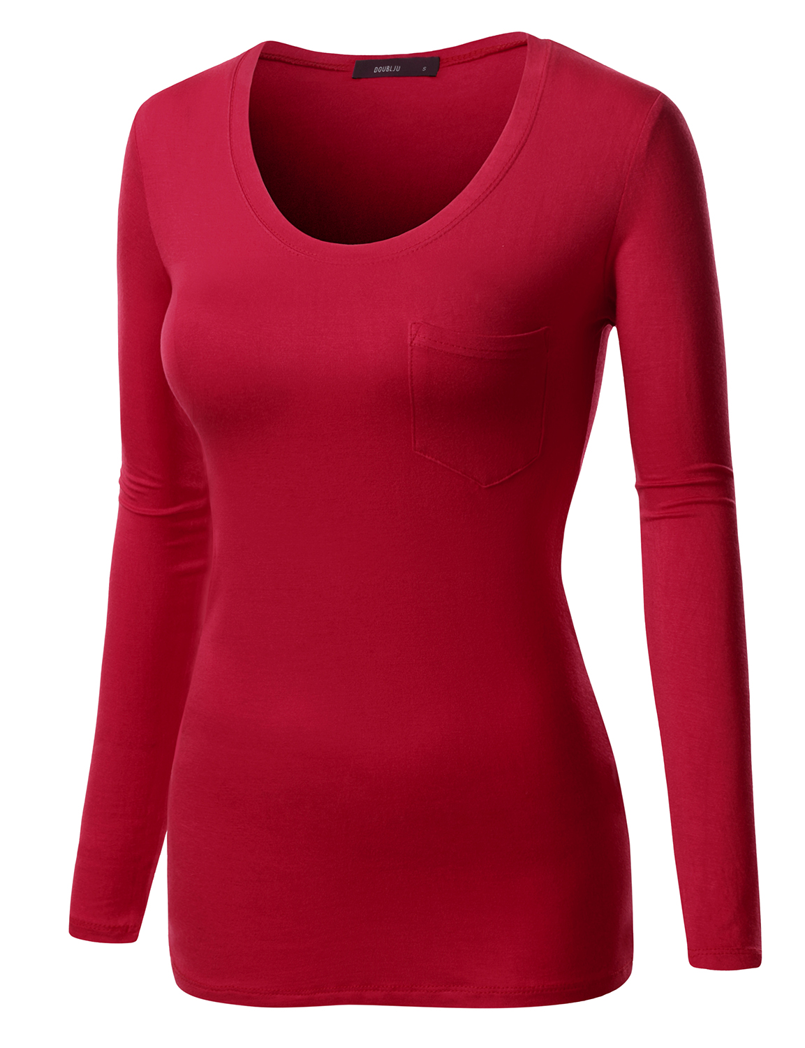 46c8fbce1b9 Doublju - Doublju Womens Chest Pockts Long Sleeve Simple T-Shirts Top With Plus  Size MUSTARD M - Walmart.com