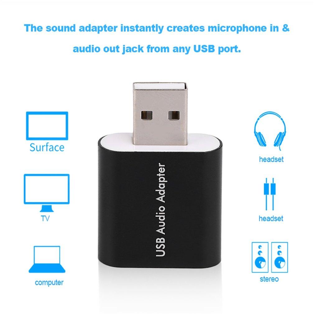 External USB 2.0 7.1 CH Virtual Audio Sound Card Adapter Converter Notebook