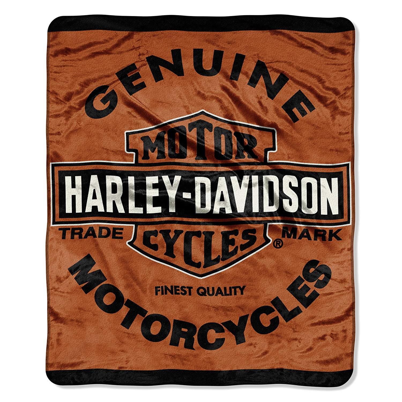 Harley Davidson Micro-Raschel Blanket by Northwest