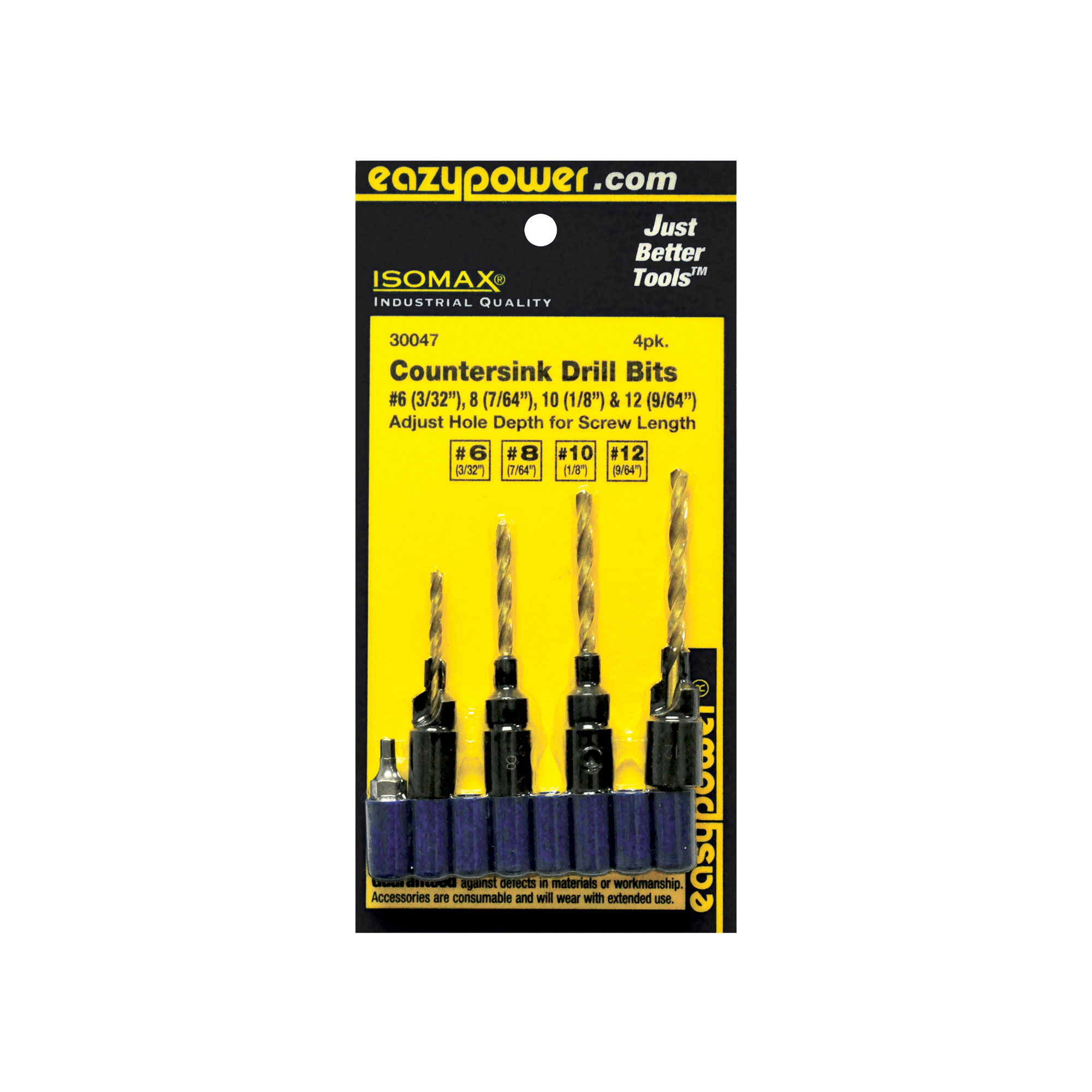 Eazypower Countersink Drill,PK4