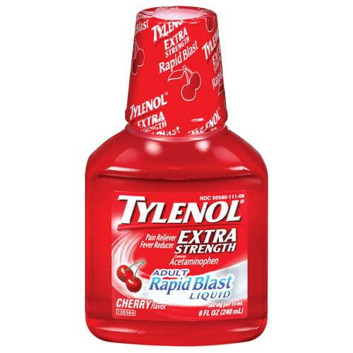 Tylenol Extra Strength Liquid Cherry, 8 oz