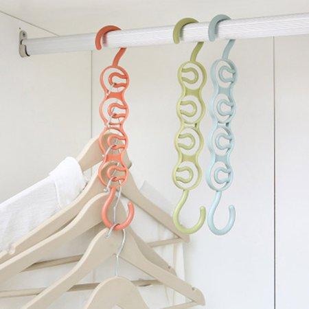 Clothes Hangers Multi-Layer Wardrobe Clothes Rack Metal Space Saver Clothes - image 5 de 7