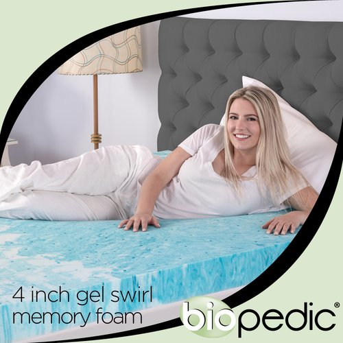 Alwyn Home Swirl 4'' Gel Memory Foam Mattress Topper