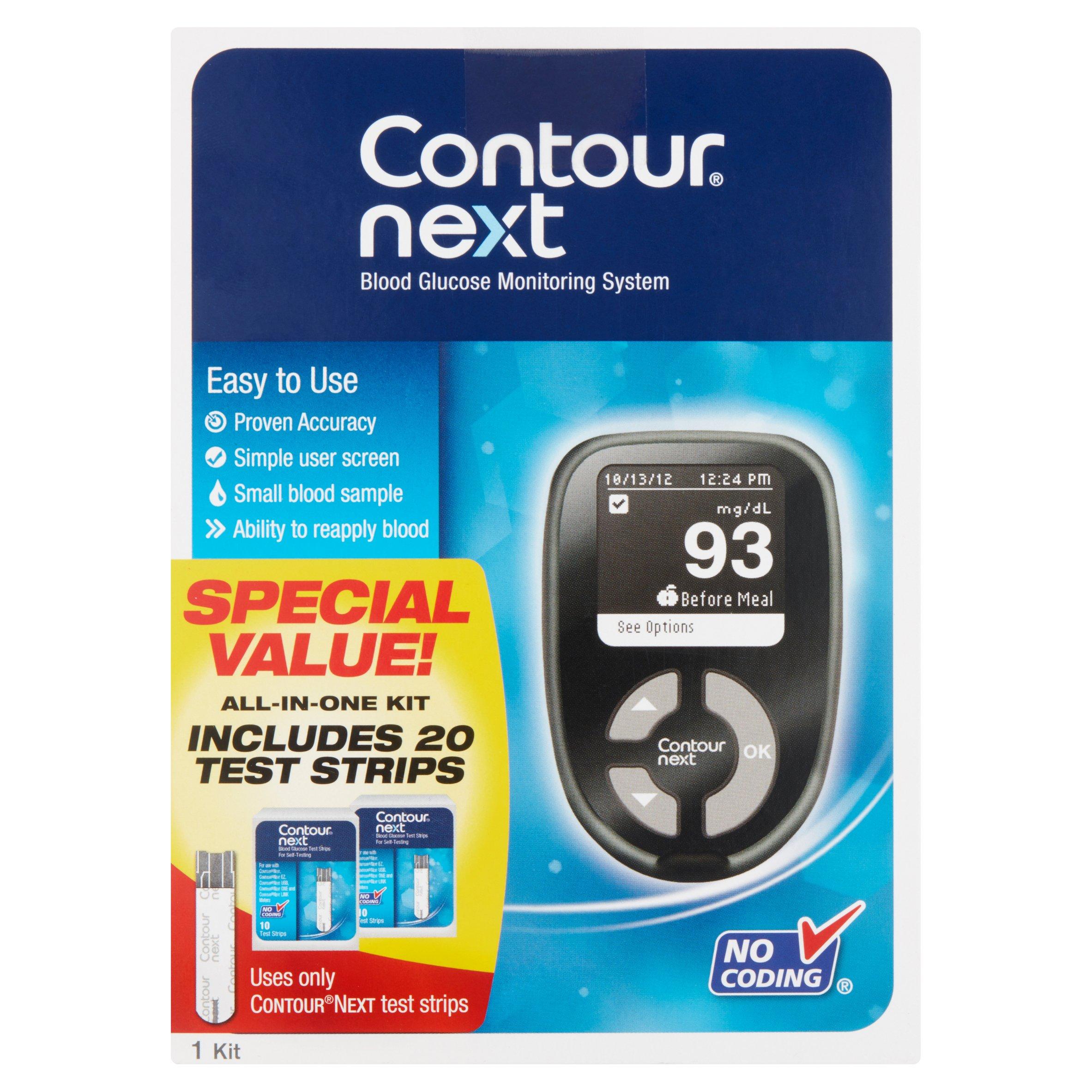 Contour Next Blood Glucose Monitoring System, 1 Kit