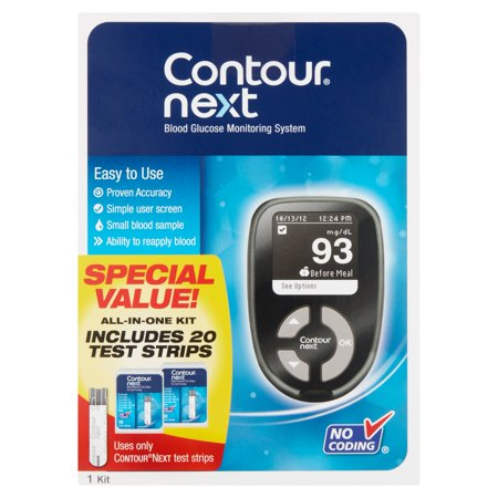 Contour Next Blood Glucose Monitoring System, 1 (Best Blood Glucose Meters Comparison)