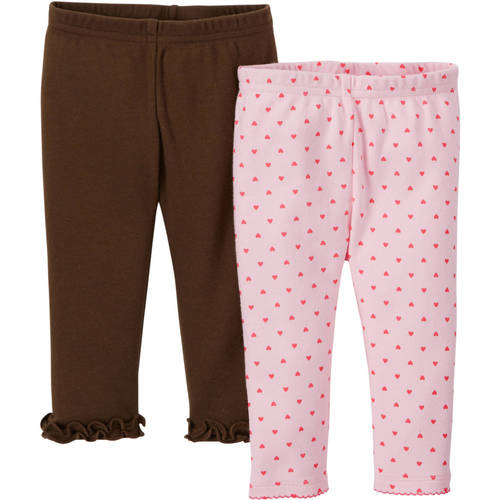 Child Of Mine by Carter's Newborn Baby Girl Pant, 2 Pack