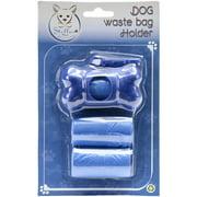 Stellar Pet Boutique Bone Shaped Waste Bag Holder W/60 Bags-Blue