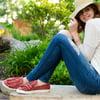 Women's Faux Suede Slip-on Ruffle Sneakers