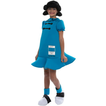 Peanuts: Lucy Deluxe Child Halloween Costume - 0 3 Month Peanut Halloween Costumes