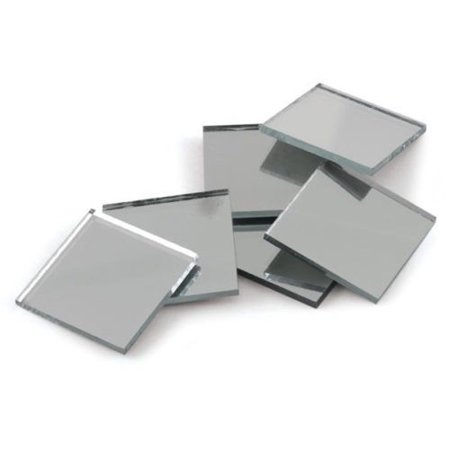 0.75 inch Glass Craft Mini Square Mirrors 15 Pieces Mosaic Mirror Tiles (Mosaic Pieces)