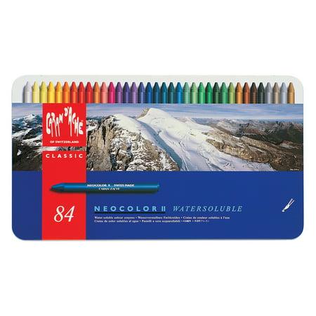 Caran d'Ache, Neocolor II Crayons, 84 Colors