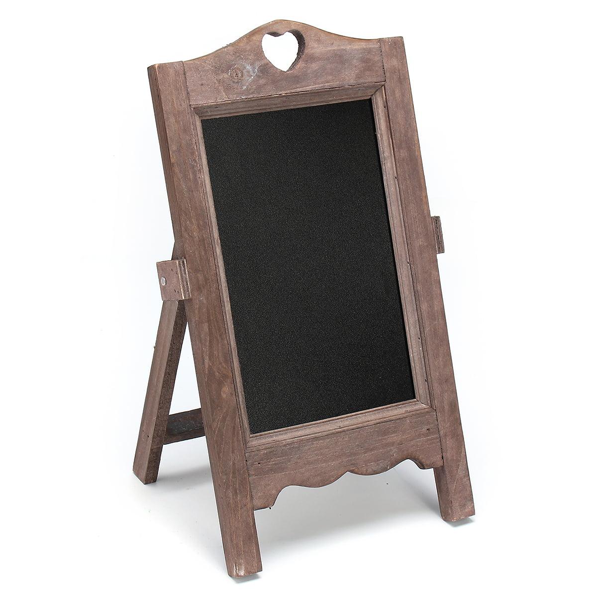 "4.9 x 7.7 x 13.8"" Vintage Wood Chalk Board Blackboard Memo Message Wedding Kitchen Notes Signs"