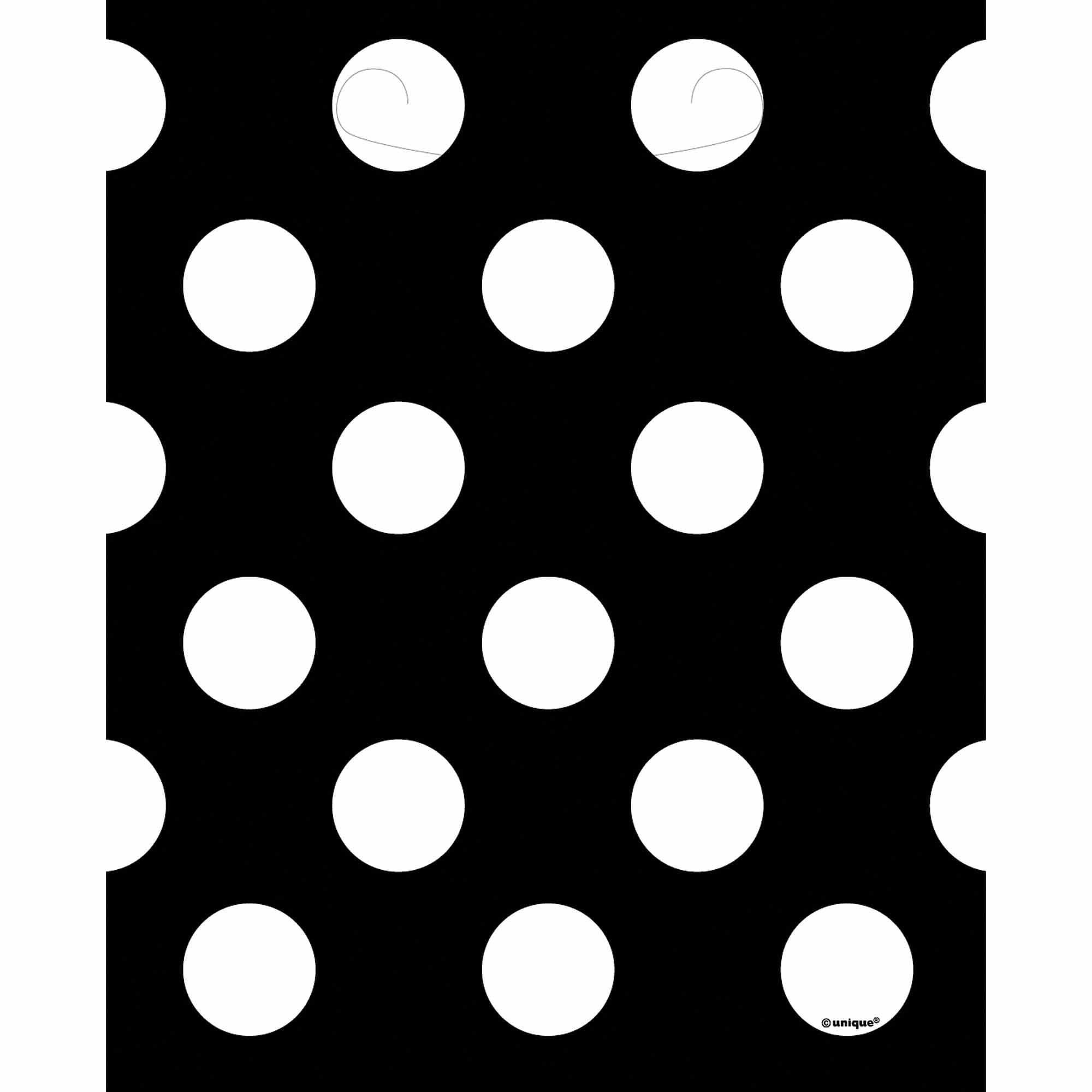 Black Polka Dot Favor Bags, 8pk
