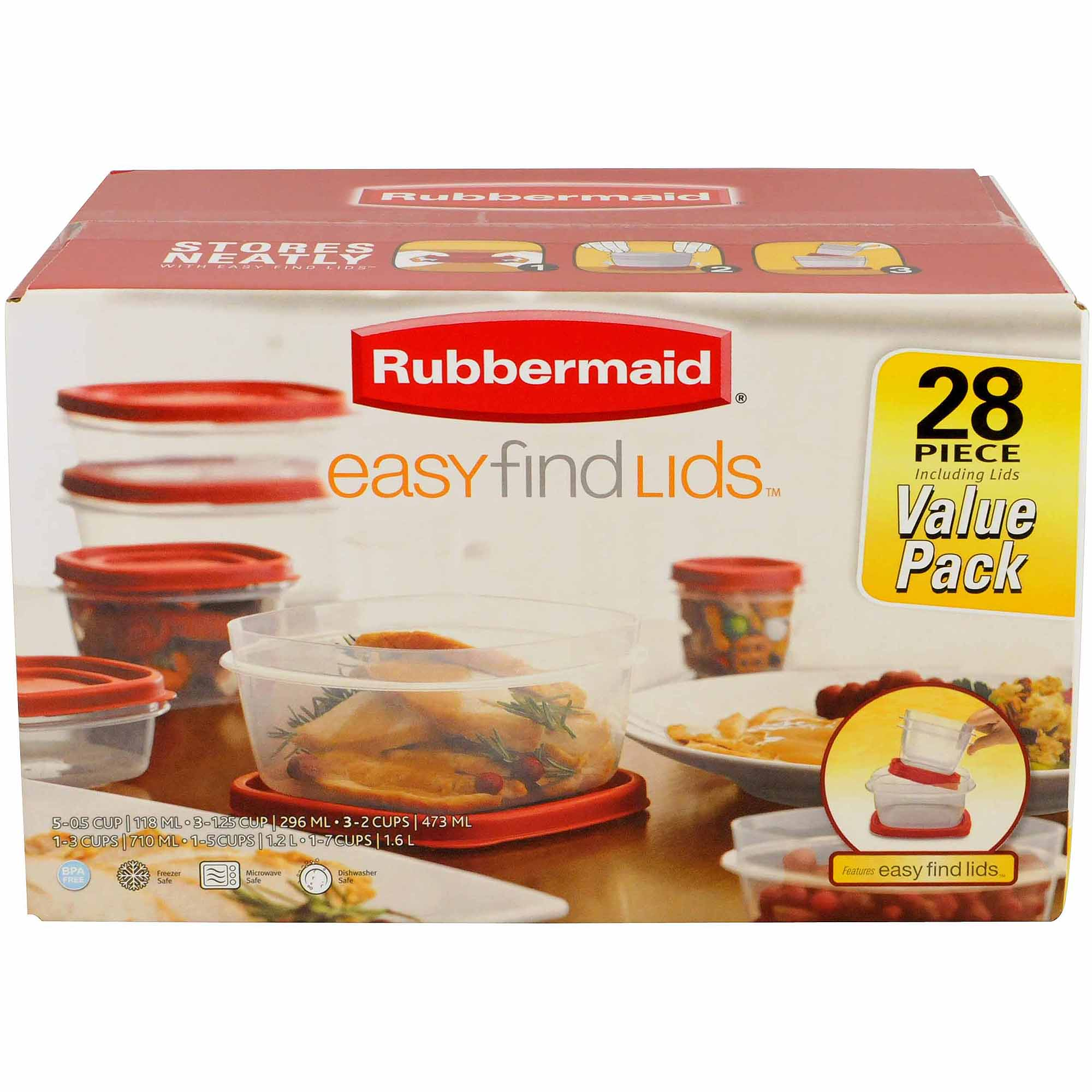 Rubbermaid Easy-Find Lids 28-Piece Set
