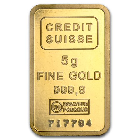 5 Gram Gold Bar Credit Suisse Statue Of Liberty
