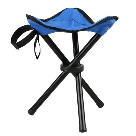 Large Slacker Chair, Portable Tripod Stool Folding Stool with Carrying Case for Outdoor Camping Walking Hunting Hiking Fishing Travel