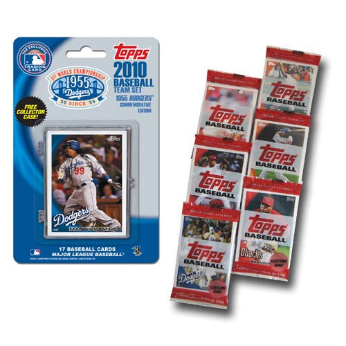 2010 Topps MLB Team Set With Packs - Los Angeles Dodgers 55Th Anniversary Edition Los Angeles Dodgers MCT10BBLAD55