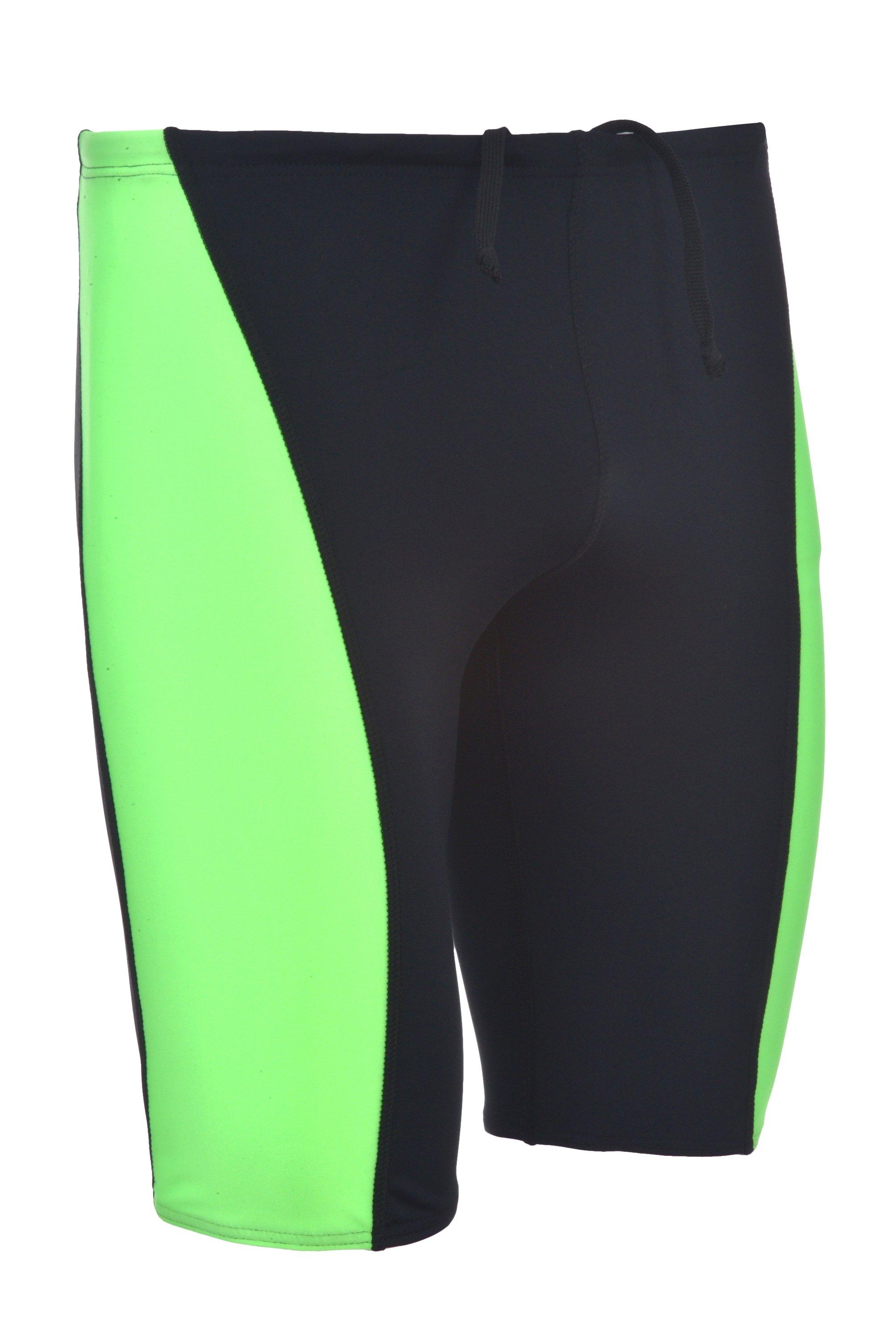 Men's Performance Swimsuit Racer Jammer - Durable Spandex Nylon Blend Comfortable Swimwear Training Many Colors