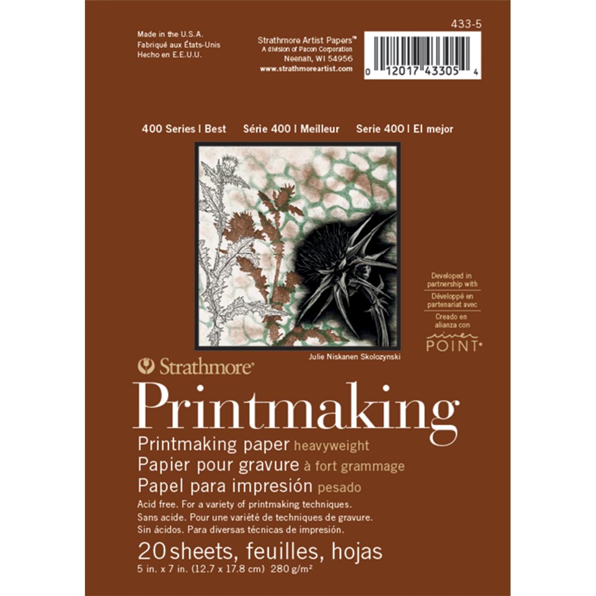 "Strathmore 5"" x 7"" Heavyweight Printmaking Paper"