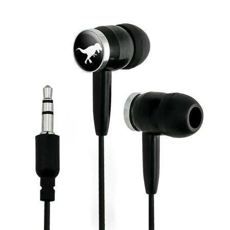 Dinosaur Tyrannosaurus Rex Black White Novelty In-Ear Earbud Headphones - (Ear Bleeding Country The Best Of Dinosaur Jr)