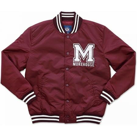 Big Boy Morehouse Maroon Tigers S3 Light Weight Mens Jacket [Maroon - L] (Maroon Coat)
