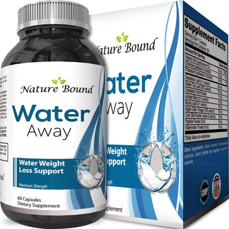 Nature Bound Water Away Supplement Best Fast Acting Diuretic Pills for Bloating Swelling Relief Water Weight Loss Pills for Men and Women Max Strength Fluid Balance 60 (Best Way To Eliminate Bloating)