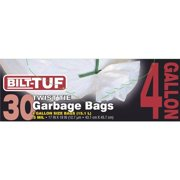 Presto Products GKL032571-1 Garbage Bags, White - 4 gal & 0.5ml - 30 Count
