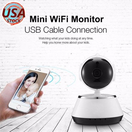 GUUDGO Wireless WiFi Network/IP Camera for Home Security Surveillance, Pet,  Nanny and Baby Monitor with Motion Detection,Two-way Audio and Night