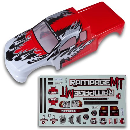 Redcat Racing 50902 1/5 Truck Body Red and White
