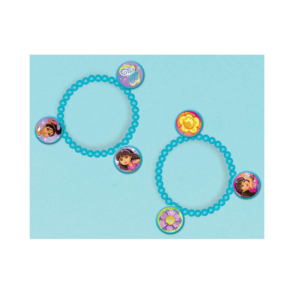 Dora and Friends Charm Bracelet Favors (4 Pack) - Party Supplies