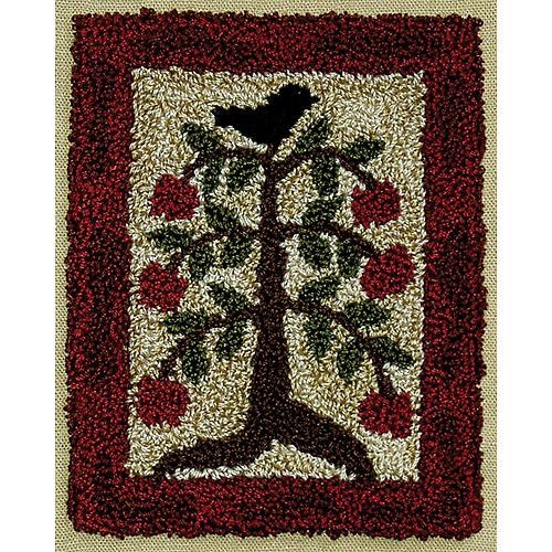 "Rachel's of Greenfield Punch Needle Kit 3""X4""-Apple Tree"